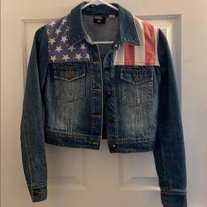 American Flag Denim Jacket